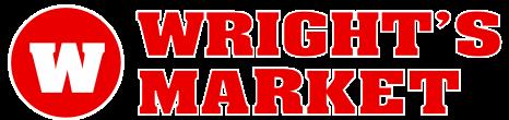 A theme logo of Wright's Market